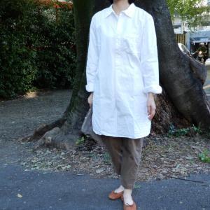 スウェーデンタイプ グランパシャツ ホワイト|abracadabra