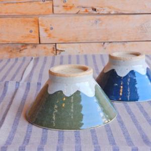 美濃焼 富士山の雪模様茶碗 全2色|abracadabra