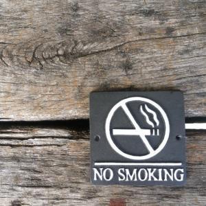 アイアン スクエアサイン NO SMOKING 全2色|abracadabra