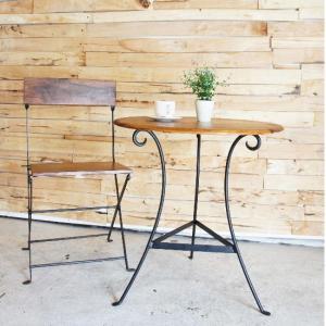 鉄と木のラウンドテーブル|abracadabra