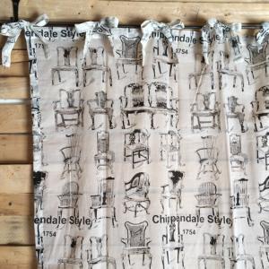 チッペンデールスタイル パーティションカーテン 110×180cm|abracadabra