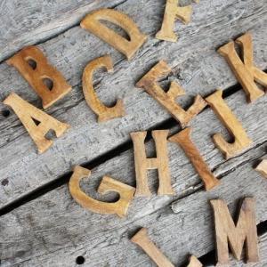 セラヴィ マンゴーウッドアルファベットオブジェ|abracadabra