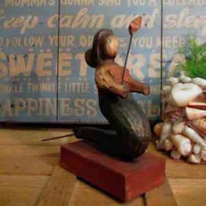 TOPANGA 木彫りの置物 マーメイド|abracadabra
