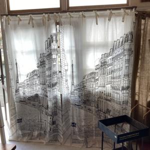 ランドスケープ カーテン 110×180cm パリ|abracadabra