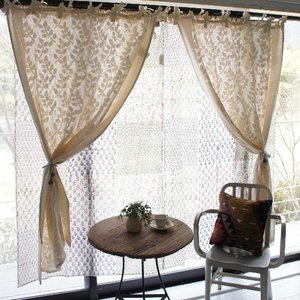 Topanga 100% Cotton Cutwork Curtain 180cm (全2種) コットンカットワークカーテン|abracadabra