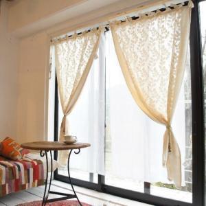 Topanga 100% Cotton Cutwork Curtain 200cm  (全2種)コットンカットワークカーテン|abracadabra