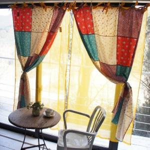 Topanga 100% Cotton Voile Curtain 200cm イエロー コットンボイルカーテン|abracadabra
