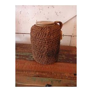 アンティーク・インドのジュート編み陶器|abracadabra
