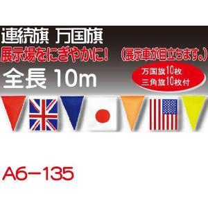 万国旗 全長10m 万国旗10枚三角旗10枚 A6-135|absolute