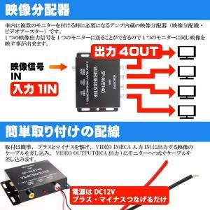 送料無料 DC12V映像分配器4Ch出力 映像分配器ビデオブースター 複数モニター取り付け時に映像分配器 4出可能な映像分配器 as27|absolute|02
