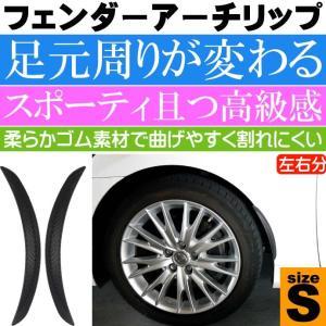 フェンダーアーチリップ マッドガード カーボン調S 25cm 柔らか素材で取付簡単モール as1751|absolute