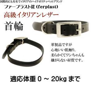ferplast高級レザー製首輪黒色 首まわり27〜35cmC15/35 丈夫なペット用品首輪 お散歩にペット用品首輪 使いやすい首輪 Fa181 absolute 02