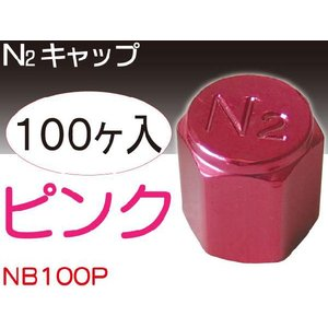 N2キャップピンク100個 窒素ガス用バルブキャップ NB100P|absolute