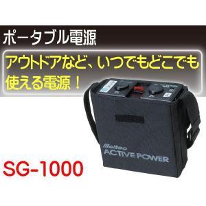 ポータブル電源DC12V いつでもどこでも使用可能な電源 SG-1000|absolute