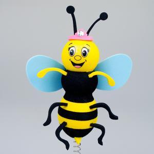 女王 蜂 アンテナボール アンテナトッパー 車 目印 カスタム ハチ 蜜蜂 ミツバチ かわいい USA アメ雑 定形外|abspec