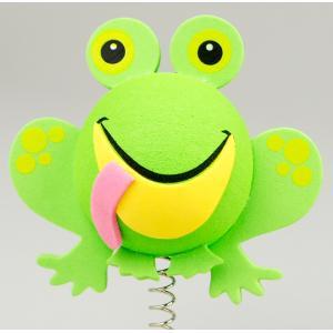 グリーン フロッグ アンテナボール アンテナトッパー 車 目印 カスタム かわいい カエル 蛙 動物 アニマル 緑 アメ雑 定形外|abspec