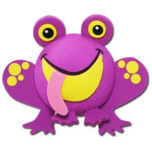 パープル フロッグ アンテナボール アンテナトッパー 車 目印 カスタム かわいい カエル 蛙 動物 アニマル 紫 アメ雑 定形外|abspec