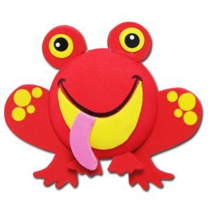 レッド フロッグ アンテナボール アンテナトッパー 車 目印 カスタム かわいい カエル 蛙 動物 アニマル 赤 アメ雑 定形外|abspec