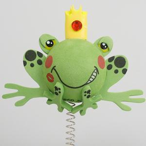 プリンス フロッグ アンテナボール アンテナトッパー 車 目印 カスタム かわいい カエル 蛙 動物 アニマル 王子 アメ雑 定形外|abspec