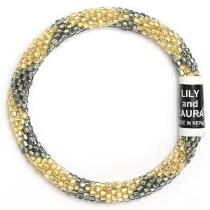 リリーアンドローラ ブレスレット(Lily and Laura Bracelets)【正規品】 Chrome and Gold Big Diamonds|abterrace