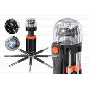 LEDライト付き8in1マルチドライバー【24個まとめ売り1個あたり約495円】|abundance-wholesale