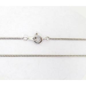 真鍮チェーン 幅1.0mm  シルバーカラー 40〜50cm 5-a10|ac-jewel