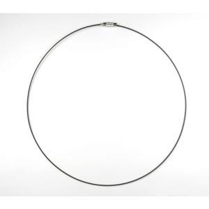ステンレスワイヤー チョーカー ステンレスに合皮45cm 5-ch002|ac-jewel