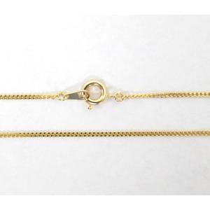 真鍮チェーン 幅1.0mm ゴールドカラー 40〜50cm  5-ga|ac-jewel