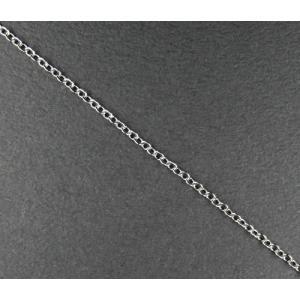 ステンレス アズキチェーン 1.5mm幅 シルバーカラー アジャスター付き 44〜50cm 5-sta10|ac-jewel