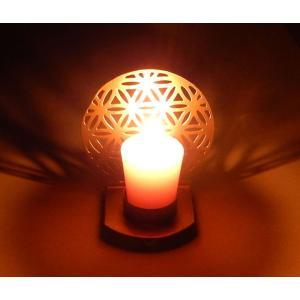 訳あり フラワーオブライフキャンドルホルダー 当店一番人気 在庫一掃売り切りセール フラワーオブライフが浮かび上がる光と影のアート 神聖幾何学図形 fol040