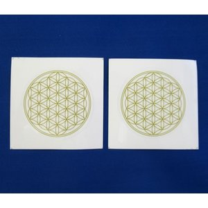 Bタイプシール神聖幾何学図形フラワーオブライフ50mmシール・ステッカー シール2枚分 folst0...
