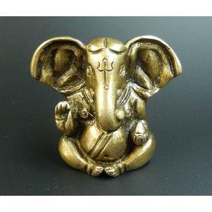 <title>ガネーシャ神彫像 100%品質保証! 商売繁盛 金運 財運 成功 伝説のオリハルコンと目される金属 黄銅 真鍮 オルゴナイトの中にも h006</title>