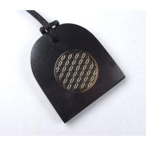 アイテム勢ぞろい メーカー直送 シュンガイトペンダント ドーム型 フラワーオブライフ shundom002 光を受け取る準備 サイキックプロテクションとエネルギー強化