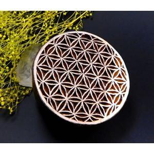 <title>フラワーオブライフ木製スタンプ 神聖幾何学図形 はんこ インテリア置物 販売実績No.1 wood001</title>