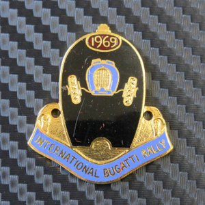 INTERNATIONAL BUGATTI RALLY 1969 バッジ プレート ac-minds-aj