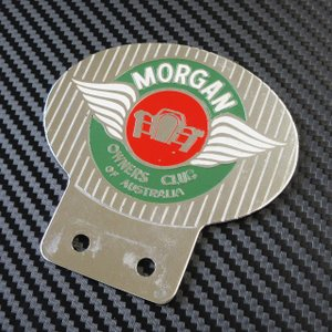 MORGAN CAR BADGE MORGAN OWNERS CLUB OF AUSTRALIA ac-minds-aj
