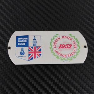 LONDON MOTOR CLUB ロンドンモータークラブ ロンドンラリー 1952 バッジ プレート ac-minds-aj