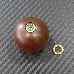 ケーターハム CATERHAM 球型 ウッドシフトノブ バッチ付き M10-1.5ピッチ用|ac-minds-aj