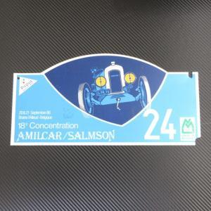 AMILCAR / SALMSON 18e Concentration 20&21 September 86 Braine・I'Alleud-Belgique No.24 記念プレート ラリープレート ac-minds-aj