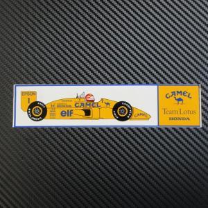Team Lotus HONDA CAMEL 1988年ロータスホンダ100T 外張りステッカー 希少当時物