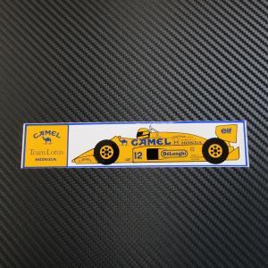 Team Lotus HONDA CAMEL 1987/ロータス ホンダ 99T No.12 プリント ステッカー 希少当時物