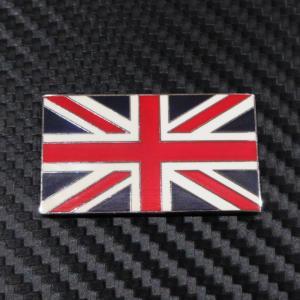 英国国旗 ユニオンジャック メタルバッチ 裏面接着シール付 縦:横比率 2:3|ac-minds-aj