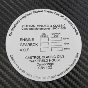 カストロール CASTROL クラシック ガラス ステッカー 内貼り|ac-minds-aj