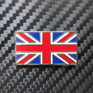 英国国旗 ユニオンジャック メタルバッチステッカー 裏面接着シール付|ac-minds-aj