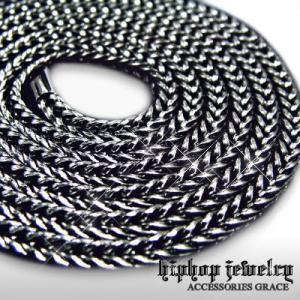 HIP-HOPヒップホップ フェイク・ブラックフランコチェーン ブリンブリン B系|accessoriesgrace