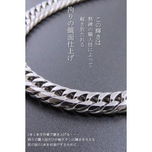 喜平ネックレス 喜平 チタン ネックレス メンズ ネックレス 人気 ネックレス チェーン 極太 W6面 10ミリ幅 55or60cm accessoriesgrace 04