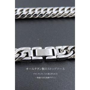喜平ネックレス 喜平 チタン ネックレス メンズ ネックレス 人気 ネックレス チェーン 極太 W6面 10ミリ幅 55or60cm accessoriesgrace 08
