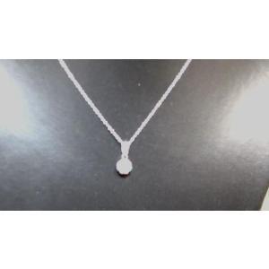 キュウブ型ジルコニア付きネックレス|accessory-aj