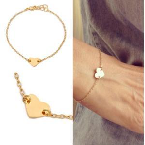 ハート ブレスレット レディース かわいい プレゼント ゴールド シルバー アクセサリー|accessory-pov
