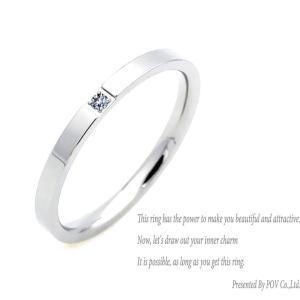 リング レディース CZ ダイヤ シンプル 指輪 ring シルバー ペアリング|accessory-pov